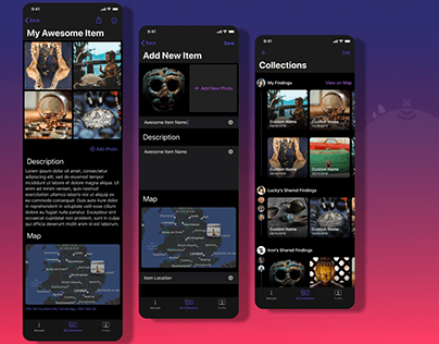 Treasure Tracking iOS App