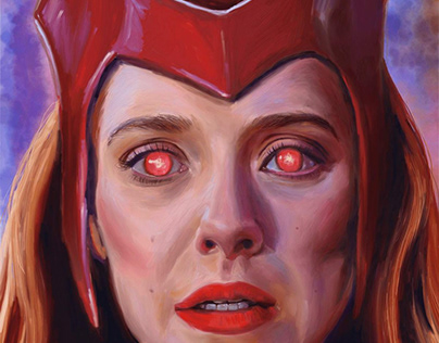 Digital Surreal Painting Scarlet Witch