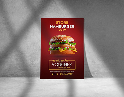 Hamburger Discount Poster