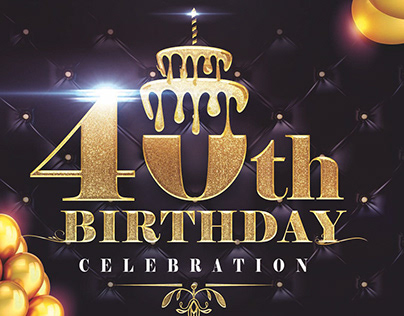 40th Birthday Flyer