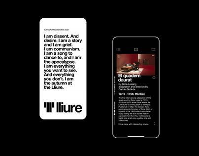 Teatre Lliure interactive programme