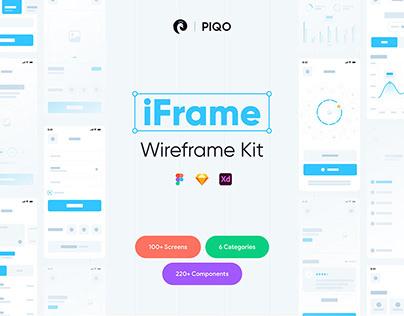 iFrame Wireframe Kit-100+ Screens