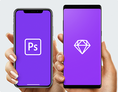 FREE iPhone in Hand Mockup PSD/Sketch Samsung, iPhone 8