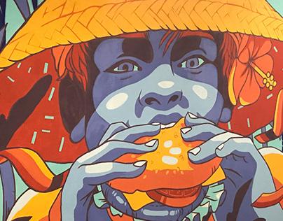 Mural Bali Burger