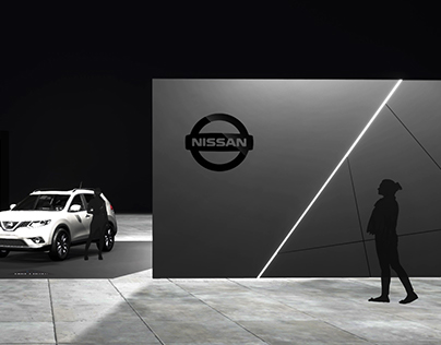 Star Wars themed Nissan Exhibit at the LA auto show