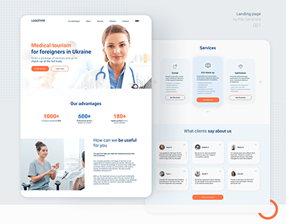 Landing Page – Medical Concept