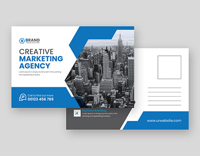 Business post card design-Corporate post card template