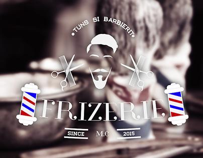 Frizerie logo(Barbershop logo)and visit card