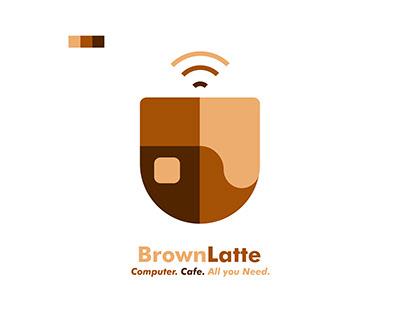 BrownLatte | Cyber Cafe Logo