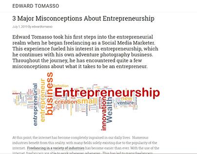 Misconceptions About Entrepreneurship (blog post)
