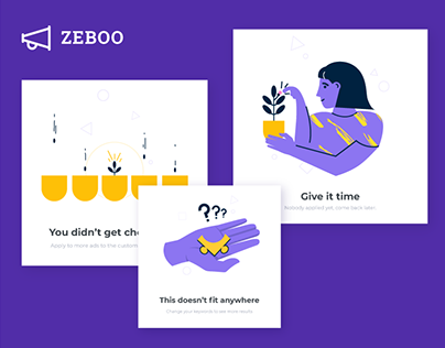 ZEBOO-Hire a local pro | App UI/UX and Illustration