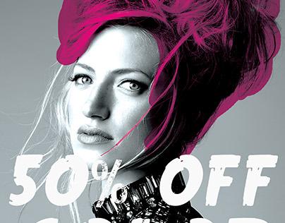 Bold art for Quinn Vise Hair Design & Co.