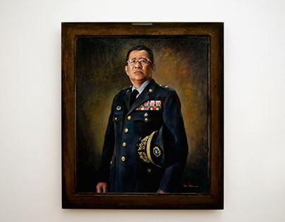 Portrait of general Pang