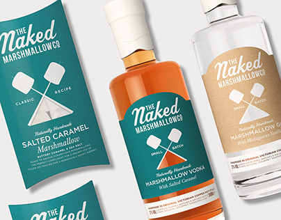 Naked Marshmallow Co - Branding and Packaging Design