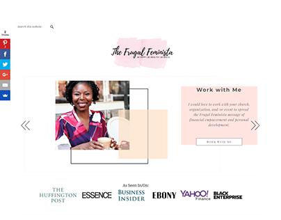 The Frugal Feminista – Website Design & Development