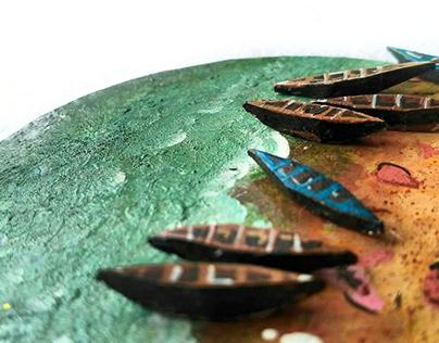 Miniature seascape (3D)