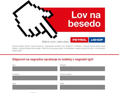 Lov na besedo - Petrol eShop web treasure hunt