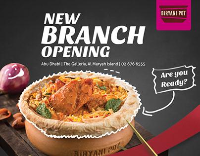 Biryani Pot -Branch Opening