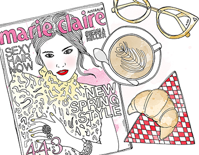 Marie Claire Fashion Colouring Book