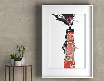 Fashion poster - Asian Shadows