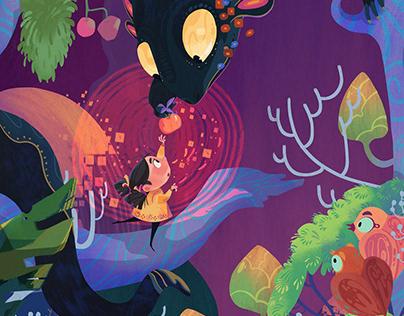 Colorful Children Stories Digital illustration Art