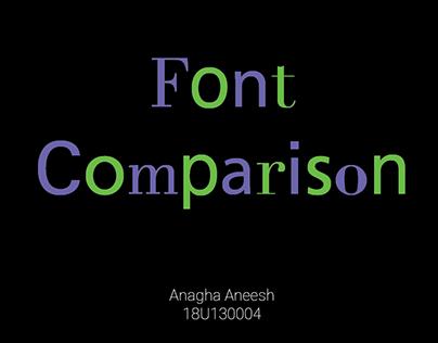 Font Comparison