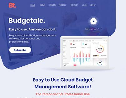 Budgetale Web app landing page v1