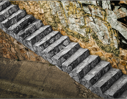 the stairs to the sea