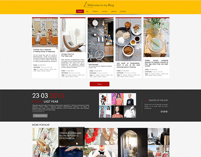 Welcome to me blog / Blog Template Design
