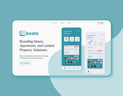 Koala Website, Property Management based in Indonesia