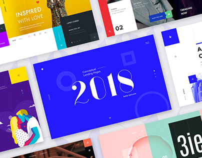 Conceptual Landing Pages 2018 - Web Design