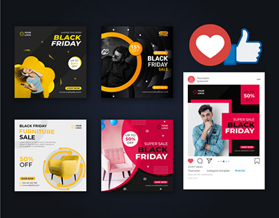 Black Friday Social Media Post Template vol-2