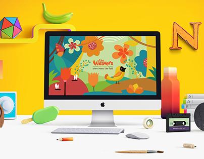 The Weavers preschool website design