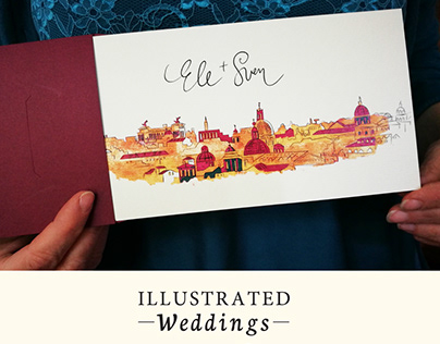 Illustrated Weddings (Ele + Sven)