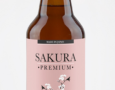 Sakura Beer -Brand&Identity -Product Label