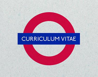 My London Underground Tube Map - Creative CV Resume
