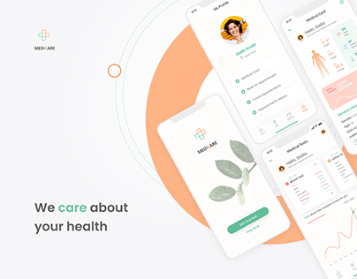 Healthcare Mobile App & Landing Page