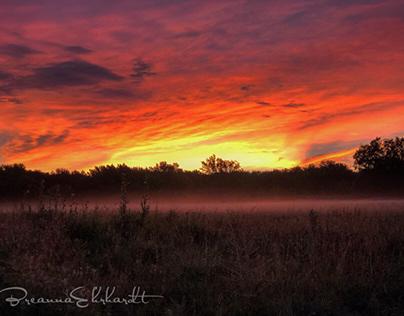 Kansas Sky Of Flames
