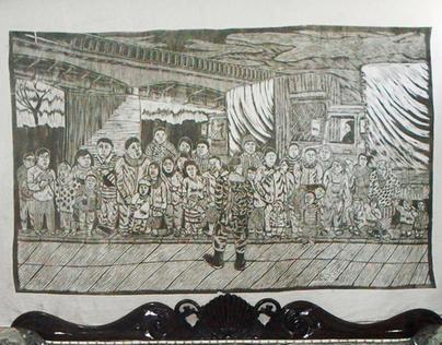 mdf cut print on linen