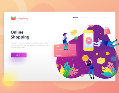 Shopping - Online Shop Header Illustration