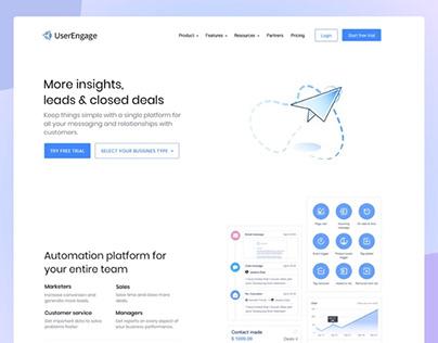 Landing Page UserEngage