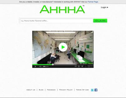 AHHHA Website Redesign