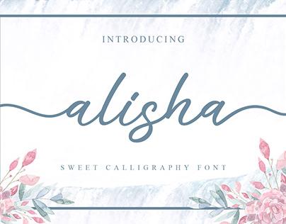 alisha sweet calligraphy font #fontself