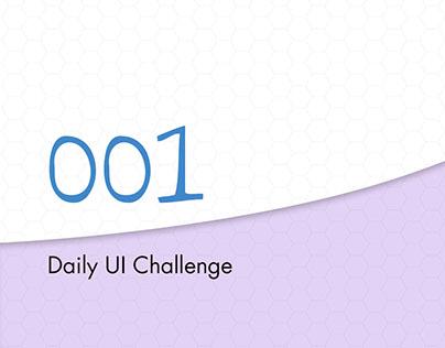DailyUI Challenge 001