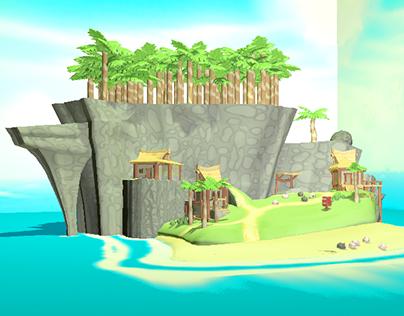 3D Wind Waker environment
