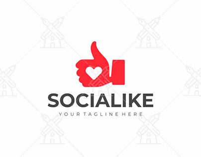 Thumbs up hand logo design (Download link below)