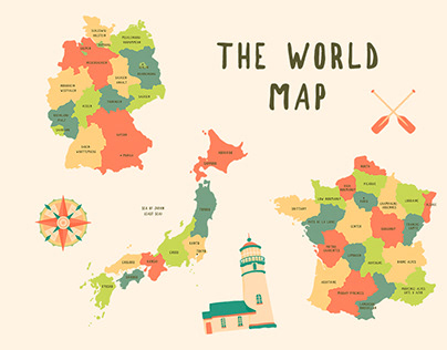 The World Map Illustration