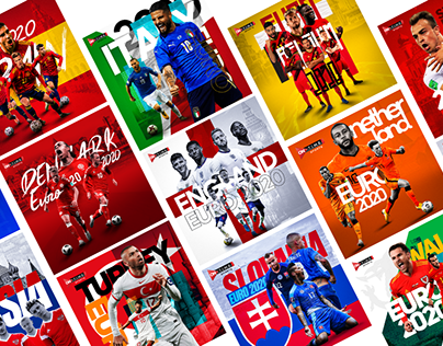 Euro 2020 Soccer Posters ( Sports graphics )