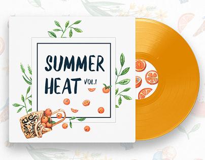 Summer Heat: Set of Watercolor Illustrations