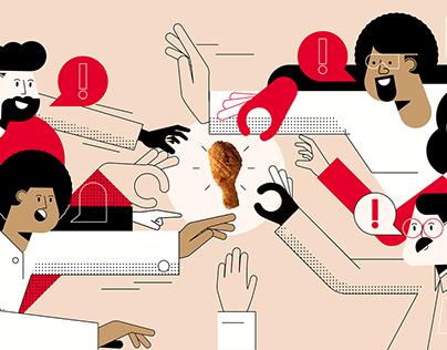 KFC   Fued illustrations and animation